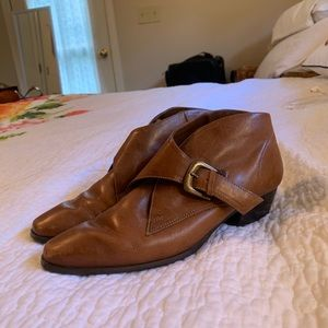 Brazilian Leather Ankle Boots, 6.5